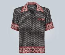 Seidenhemd mit Hawaii Bandana-Print