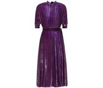 Plissiertes Kleid aus Lamé