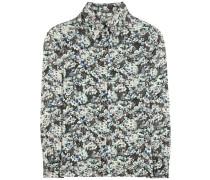 Bluse aus einem Seidengemisch mit Metallic-Print