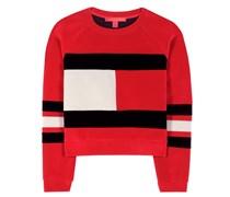 mytheresa.com exklusiv Cropped Sweater aus Samt-Scuba