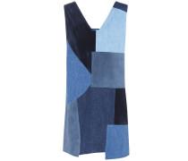 Kleid Marten aus Veloursleder und Denim