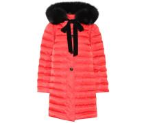 Mantel mit Fuchsfell