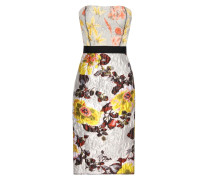 Jacquard-Kleid aus Seide und Wolle mit Print