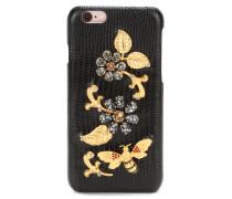 Verziertes Leder-Hardcase für iPhone 6