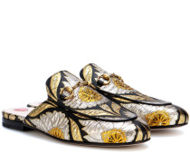 Slippers Princetown aus Jacquard