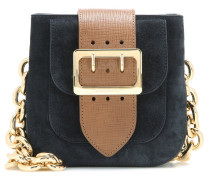 Schultertasche The Belt Square aus Veloursleder