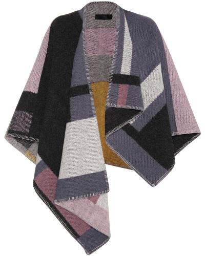 Poncho aus Wolle und Cashmere