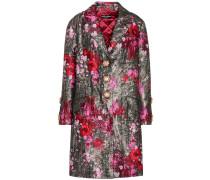 Bedruckter Mantel aus Jacquard
