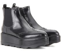 Ankle Boots aus Leder
