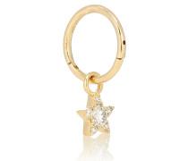 Creole aus 18 Karat Gelbgold mit Diamanten