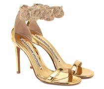 Sandalen Elsa aus Metallic-Leder