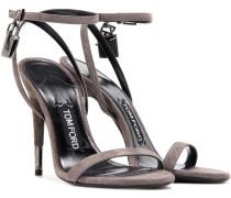 Sandaletten Padlock aus Veloursleder