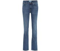 High-Rise Straight Jeans B(AIR)