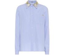 Verzierte Bluse aus Baumwolle