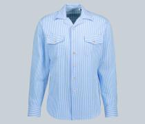 Seersucker-Hemd Araki aus Baumwolle