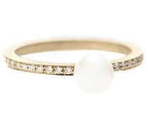 Phalanx-Ring Lisa Petite Pavé aus 14kt Gold