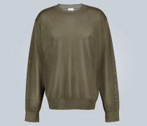Leichter Metallic-Pullover