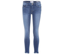 Jeans Le High Skinny Jagged Hem aus Stretch-Denim