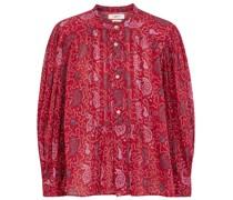 Bedruckte Bluse Adigra aus Baumwolle