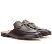 Leder-Slippers Princetown