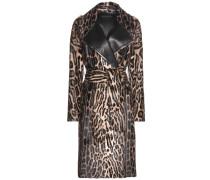Mantel aus Ziegenfell mit Print
