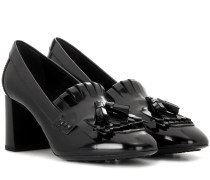 Loafer-Pumps aus Leder