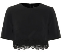 Besticktes Cropped-Top