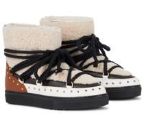 Stiefel aus Shearling und Leder