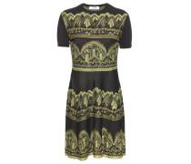 Jacquard-Kleid aus einem Seidengemisch