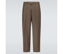 Karierte Hose aus Schurwolle
