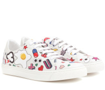 Sneakers All Over Wink Stickers aus Leder