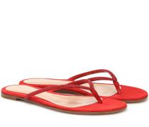 Sandalen India aus Veloursleder