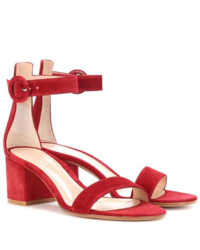 Gianvito Rossi Damen Sandalen Versilia 60 aus Veloursleder