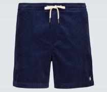 Shorts aus Baumwollcord
