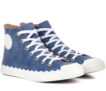 Sneakers Kyle aus Veloursleder