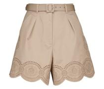 Shorts aus Baumwoll-Canvas