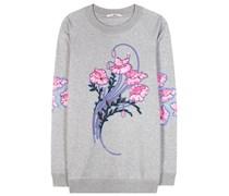 Sweater Bouquet mit Print und Applikation