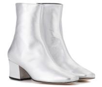 Ankle Boots Sybil Leek aus Metallic-Leder
