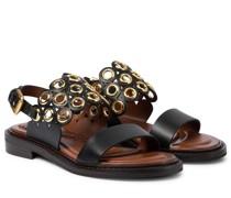 Slingback-Sandalen aus Leder