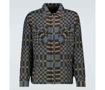 Hemdjacke aus Baumwoll-Jersey