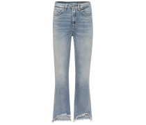 High-Rise Cropped Jeans Luxe Vintage