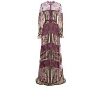 Kleid aus Seide und Spitze