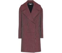 Mantel aus Wolle mit Hahnentrittmuster