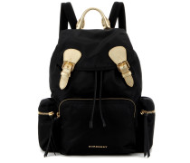 Rucksack The Large mit Metallic-Leder