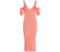 Off-Shoulder-Kleid aus Rippstrick