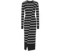 Kleid mit Streifen aus Wolle