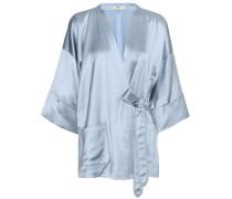 Kimono-Bluse aus Satin