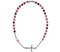 Halskette Short Rosario mit Kristallsteinen