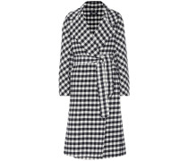 Karierter Mantel Zanora aus Wolle