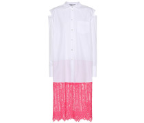 Kleid aus Baumwolle und Spitze